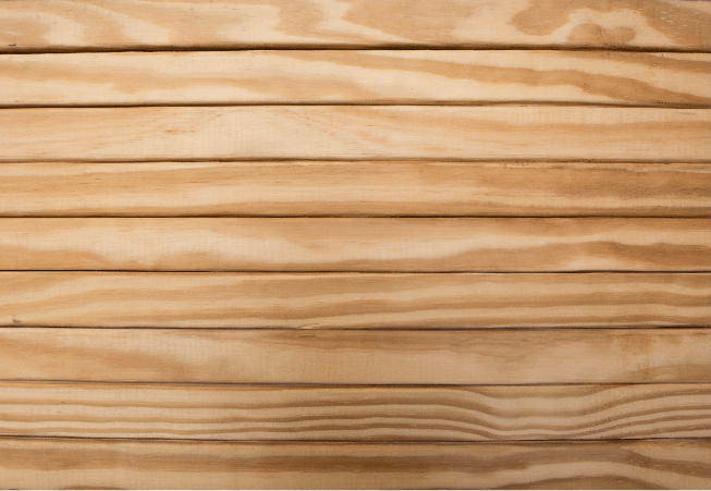 close up of small light wood planks