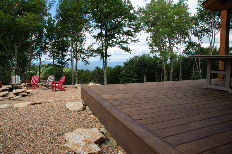 water resistant wooden patio decking dark brown