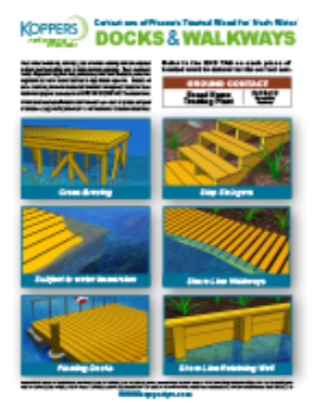 Dock and walkways guide with 6 listed types and graphics