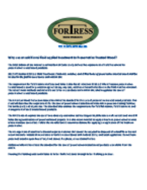 Old Fortress logo with blue text bellow and copy