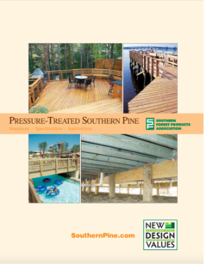 Pressure-Treated Southern pine cover page of brochure