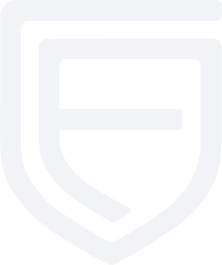 Fortress F dark blue transparent logo