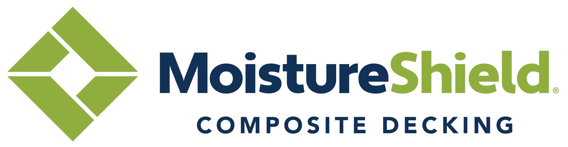 MoistureShield Composite Decking logo blue and green